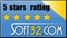 5 stars at Soft32.com