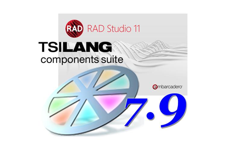 TsiLang Components Suite with Embarcadero RAD Studio 11 Alexandria support